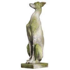 Animals Whippet Dog on Base Statue