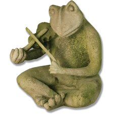Animals Frog Singing Jazz-Violin Statue