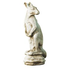 Animals Kangaroo Finial Outdoor Statue