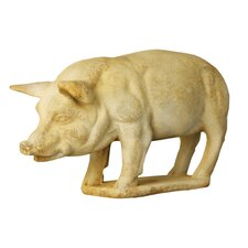 Animals Pig on Base Garden Statue