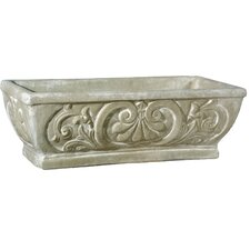 Planter Fleur de Lis Rectangular Pot