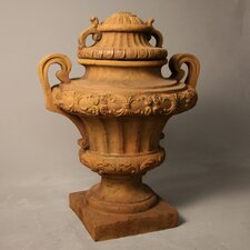 Embellished Urn with Lid Planter