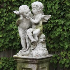Angels Two Cherubs Playing Statue