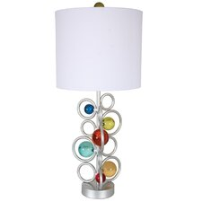 "Free Wheeling My Wheels 34"" H Table Lamp with Drum Shade"