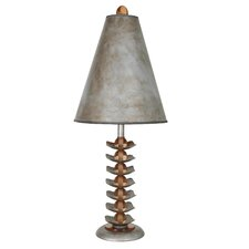 "You Will Remember Functional 30"" H Table Lamp with Bell Shade"