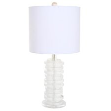 "Arctic Frosty 30"" H Table Lamp with Oval Shade"