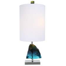 "Nature's Splendor Azure Gem 39"" H Table Lamp with Drum Shade"