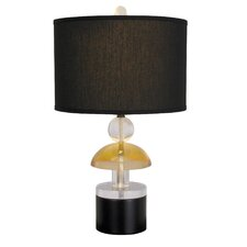 "Good Vibrations Commotion 25"" H Table Lamp with Drum Shade"