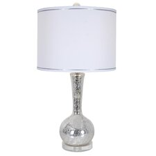 "Glaze Shatter 29"" H Table Lamp with Drum Shade"