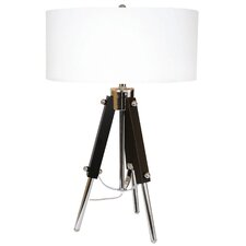 "Around The World 28"" H Table Lamp with Drum Shade"