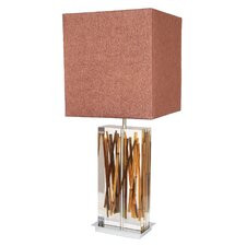 "Earth Wise Running Bamboo 33"" H Table Lamp with Square Shade"