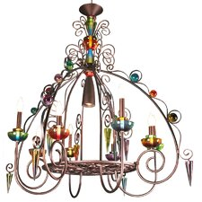 <strong>Van Teal</strong> Brazilian Nights Bird Of Paradise 8 Light Chandelier