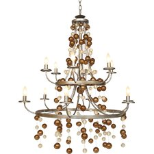 <strong>Van Teal</strong> Legacy Couples Guide 12 Light Chandelier