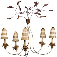 <strong>Flambeau Lighting</strong> La Fleur 5 Light Chandelier