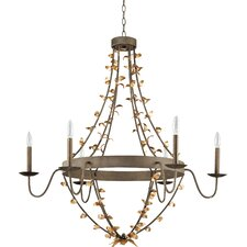 <strong>Flambeau Lighting</strong> Mary Frances 6 Light Chandelier