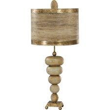 """Retro 35"""" H Table Lamp Drum Shade"""