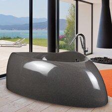 "Organic 87"" x 53"" Freestanding Hybrid Acrylic-Composite Bathtub"