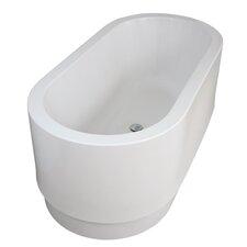 "Cocoon™ 63"" x 24.5"" Freestanding Lucite® Bathtub"