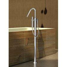 Colonna Single Handle Floor Mounted Tub Filler Trim with Hand Shower