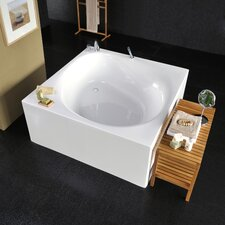 "Liquid Space Freestanding 55"" x 55"" Soaking Tub"