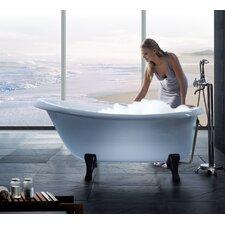 """Nostalgia 67"""" x 33"""" Freestanding EcoMarmor Slipper Tub"""