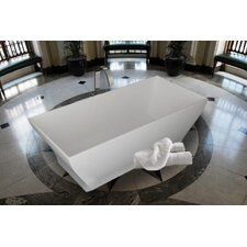 "PureScape 71"" x 32"" Freestanding AquaStone Bathtub"
