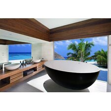 "PureScape 69"" x 41"" Freestanding AquaStone Bathtub"