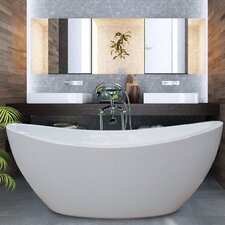 "<strong>Aquatica</strong> PureScape 75"" x 38"" Freestanding Acrylic Slipper Tub"