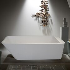 "<strong>Aquatica</strong> PureScape 67"" x 30"" Freestanding AquaStone Bathtub"