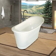 "<strong>Aquatica</strong> PureScape 63"" x 32"" Freestanding Acrylic Slipper Tub"