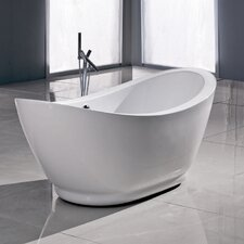 "<strong>Aquatica</strong> PureScape 65"" x 30"" Freestanding Acrylic Slipper Tub"