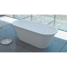 "Inflection 66"" x 19"" Freestanding EcoMarmor Bathtub"
