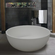 "PureScape 53"" x 53"" Freestanding AquaStone Bathtub"