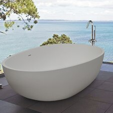 "PureScape 73"" x 33"" Freestanding AquaStone Bathtub"