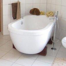 "AdoreMe 75"" x 35"" Freestanding Hybrid Acrylic-Composite Bathtub"