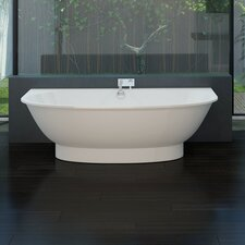 "<strong>Aquatica</strong> Gem 76"" x 40"" Freestanding EcoMarmor Bathtub"