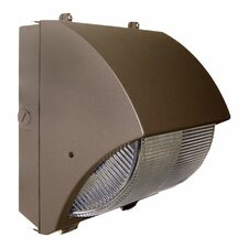 Induction Lighting 277 Volts Semi-Cutoff One Light Outdoor Wall Light in Bronze