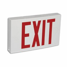 <strong>Barron Lighting</strong> Contractor Grade Thermo Plastic Red LED Exit Sign