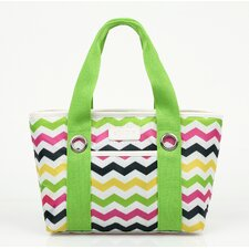Insulated Fashion Style 11 Chevron Lunch Tote