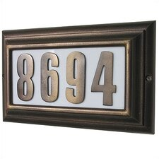 Edgewood Large Lighted Address Plaque with Aluminum Numbers