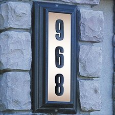 Edgewood Vertical Lighted Address Plaque