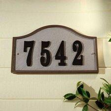 Ridge Serpentine Address Plaque