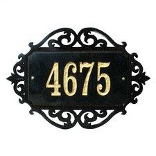 Decorative Rectangle Address Plaque