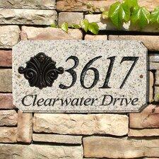 Scroll Emblem Address Plaque