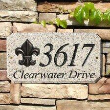 Fleur-de-Lis Emblem Address Plaque