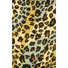 Safari Beige/Gold/Light Blue Shag Rug
