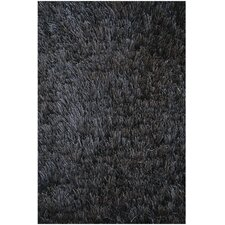 <strong>Noble House</strong> Crystal Solid Black Rug