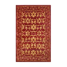 Dynamic Red/Gold Area Rug