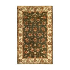 Golden Dark Green/Beige Area Rug