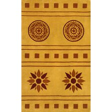 Eleen Gold Comtemporary Area Rug